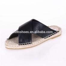 2016 chaussures à chaussures femme chaussures en coton à espadrille à espadrille glisse sur sandales