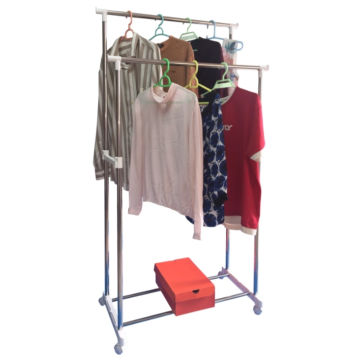 Clothes Airer Cart with double rods