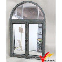 Weinlese-Art-antiker gewölbter Verschluss-Fenster-Spiegel