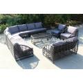 Round rattan sofa wintech wicker furniture