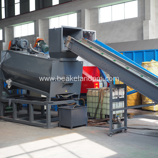 Bottle label remover plastic recycling machine
