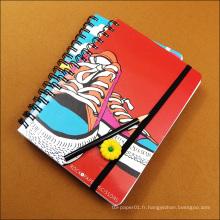 Modèles de couverture de cahier d'école en papier ordinaire, impression personnalisée