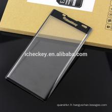 Film d'écran de qualité supérieure en verre trempé courbé 3D à couverture totale pour l'approvisionnement en usine Blackberry priv