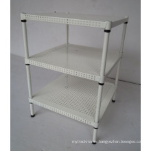 Adjustable Powder Coating 4 Tiers Perforated Home Metal Rack (MR454560B3)