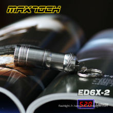 Alimenté par une pile de Maxtoch ED6X-2 Mini LED lampe de poche Style porte clef CR123A 3V