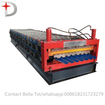 Lembaran Bumbung Logam Double Layer Roll Forming Machine