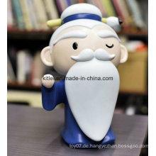 Mini ICTI aufblasbare Palme Form Kunststoff Puppe Baby Kinder Modell Spielzeug