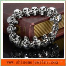 Pulseras calientes de la joyería de los hombres de la pulsera del cráneo del acero inoxidable (BL2822)