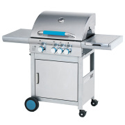 3 Burner Gas Grill With Folding Side Table