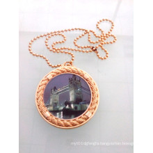Mini Gold Round Badge with Chain (GZHY-KA-008)