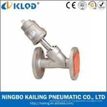 Dn40 2/2 Wayflange Pneumático Válvula de assento angular
