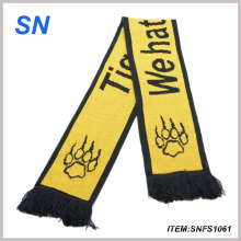 100% Acrylic Knitted Custom Design Promotional Scarf