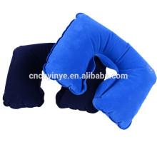Travesseiro inflável de pvc do OEM viagem pescoço