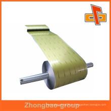 Acepte la película de laminación caliente de aluminio de encargo de la orden en rodillo con precio de fábrica