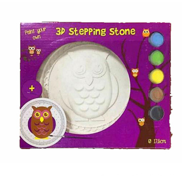 DIY 3D stepping coloring painting plaster dish
