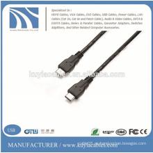 USB3.1 Tipo C al tipo C 1.5M 8 líneas coaxiales Cable del cargador de datos para el nuevo MacBook