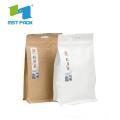 Saco de Embalagem de Chá de Papel Marrom Artesanal