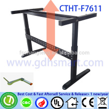 spanish bar furniture manual crank adjustable height office table frame hexagon dining table