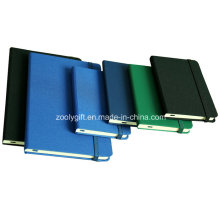 A6 / A5 Assorted Color Fabric Agenda Notebook with Elastic Strap Closure / Moleskin Agenda Notebooks
