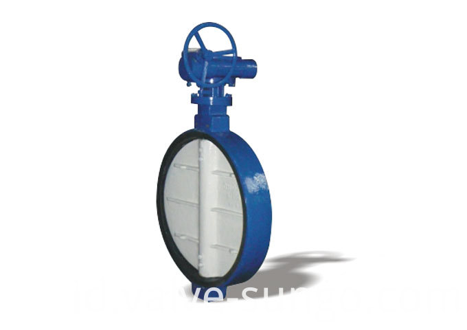 Worm wafer soft seal butterfly valve
