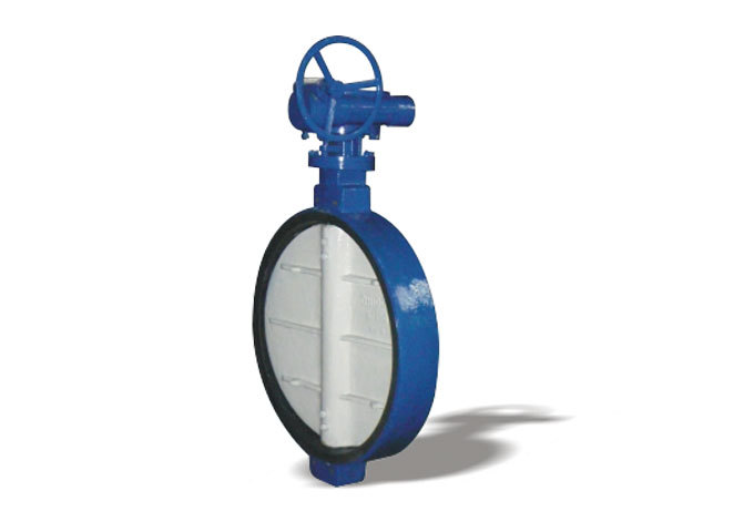 Cacing wafer lembut segel butterfly valve