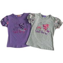 T-shirt bonito das crianças da menina da flor nas crianças vestem a roupa Sgt-087