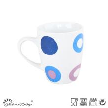 Tasse en céramique de porcelaine de 10oz avec la décalcomanie pour la promotion