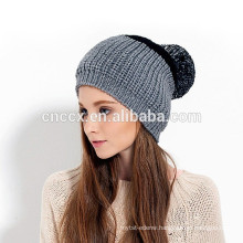 15STC4015 color block free pom beanie