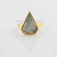 Handmade Labradorite Gemstone Designer Silver Ring For Birthday Gift