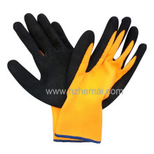 Hi-Vis Nylon Gloves Foam Latex Coated Gloves Safety Work Glove