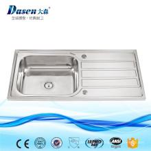 DS 10050B China OEM 304 cozinha banheiro decorativo cobre pia de máquina de corte de granito buraco