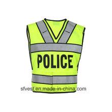 Police Safety Vest with Print Logo Fashion V Neck