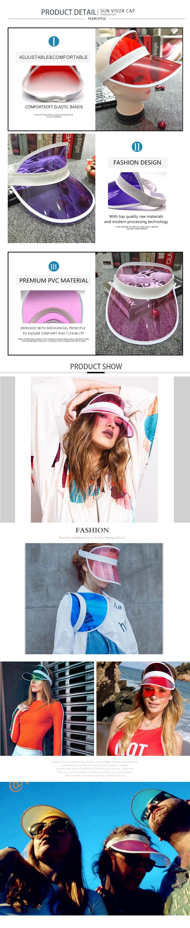 summer visor cap for women
