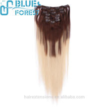 Top Quality No Shedding And No Tangle Cheap Hair Extension Clip In 100% Human Hair Clip In Hair Extension
