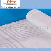 Polyester / Coton Blanc Dobby Jacquard Tissu