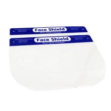 Protector facial desechable Lámina de plástico transparente PET