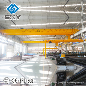 LDA Type Single Girder Motor-driven Overhead Crane , Mechanical Workshop Equipment