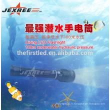 Torche de plongée professionnelle 2500lm rechargeable