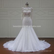 XFM012 sexy espagne voir une robe de mariée en dentelle simple