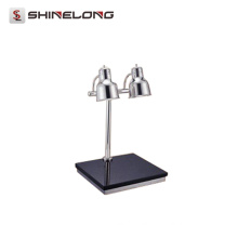 C039 Stainless Steel Dual Heating Lamps Carving Station