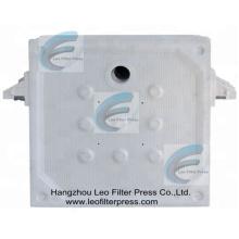 Placa de filtro de cámara Leo, placa de prensa de filtro de polipropileno para prensa de filtro de placa empotrada