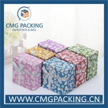 Boîte à bijoux en papier scintillant brillant (CMG-MAY-005)