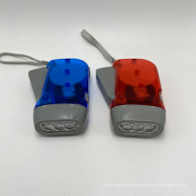 LED Rechargeable Hand-Pressing Flash Light with High Quality