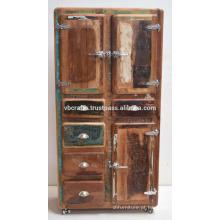 Gabinete de madeira reciclada
