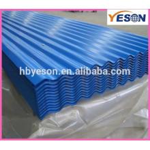 Blauer Stahldach / Verstärkungswand Stahlblech / Schirm Wellpappe aus Stahlblech