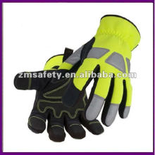 Hi-Vis Oil and Gas Leather Mechanic Glove ZMR413