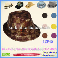 Estilo popular de la vendimia de los hombres populares de la manera de la vendimia del soplador del jazz de la bóveda redonda del sombrero de copa del sombrero de copa