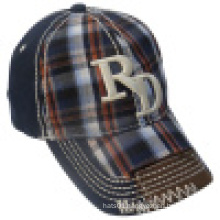 Washed Sport Cap with Checker Fabric 13wd20