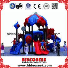 Novo parque infantil de plástico ao ar livre para venda de fábrica com desconto