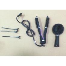 2 em 1, cabelo alisador de cabelo Ferro e encrespador de cabelo